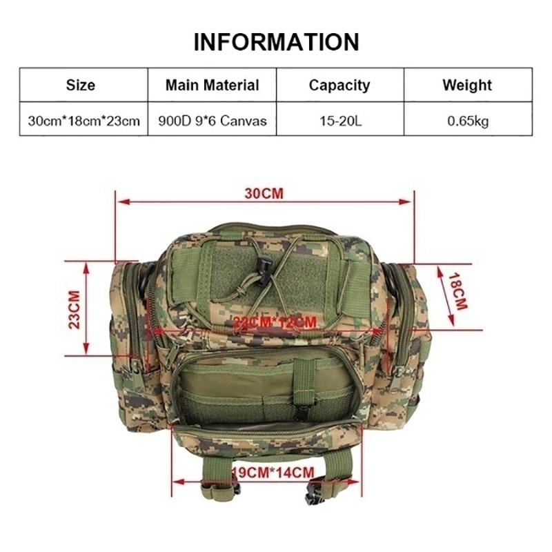 New 900D Oxford Fabric Outdoor Waist Multifunctional Large Capacity Canvas Waterproof Carp Fishing Lure Box Tackle Bags Tactical Package - OhCoolstule
