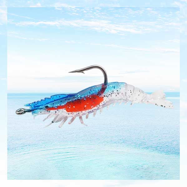 Simulation Luminous Lure Soft Shrimp Fishing Shrimp