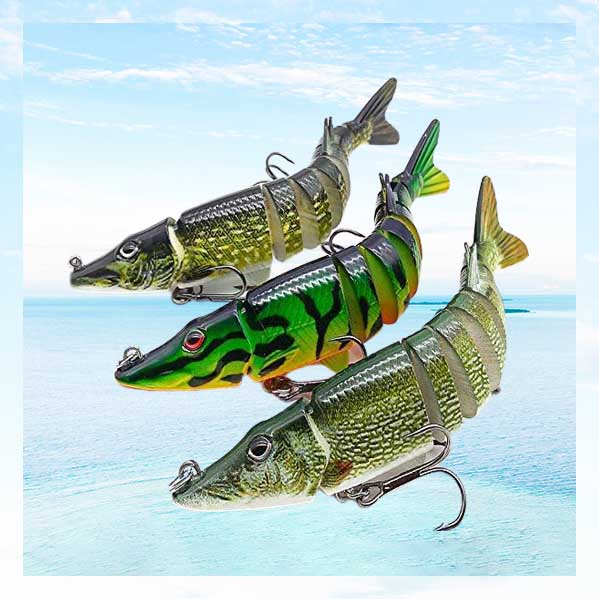 OhCoolstule™ Fishing Lure Artificial Pike 9-segement 12.5cm 20g (Pack of 3)