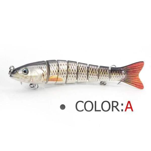 OhCoolstule™ Fishing Lure Multi-Joint Bait 8-Segment Jointed Sinking Swimbait  5.3in 28g - OhCoolstule