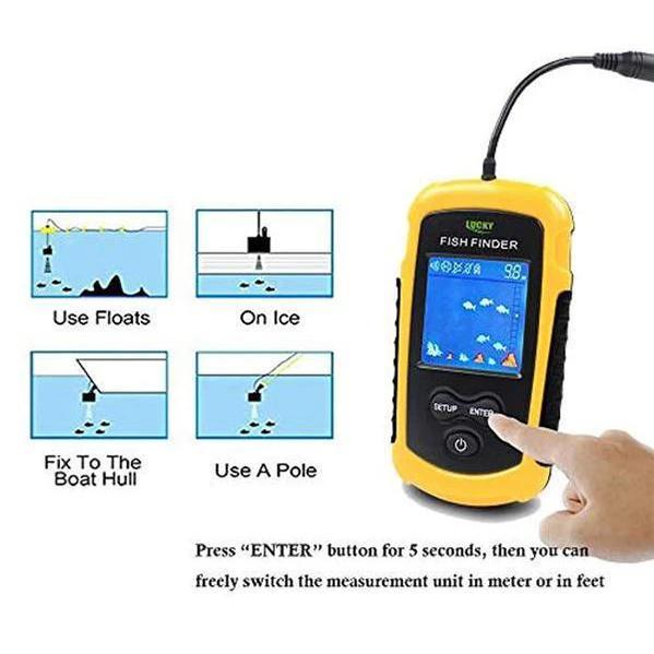 OhCoolstule™ Fishing Accessories Fish Finders 100M Portable Sonar LCD - OhCoolstule