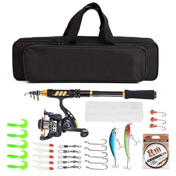 OhCoolstule™ Fishing Rod Reel  Combo Telescopic Full Kit High Quality - OhCoolstule