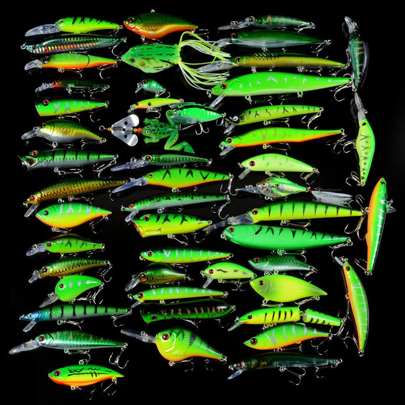 OhCoolstule™Fishing Lure Set Minnow/Crank/VIB/Popper Soft Bait 50Pcs - OhCoolstule