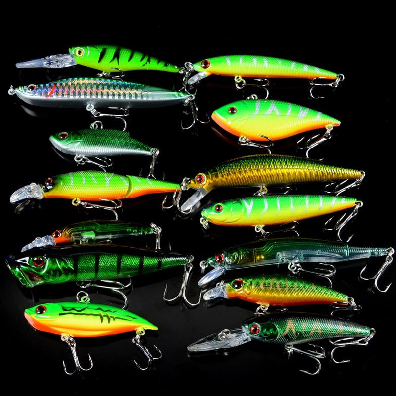 OhCoolstule™Fishing Lure Set Crankbait Fish  Wobbler Baits 14Pcs - OhCoolstule