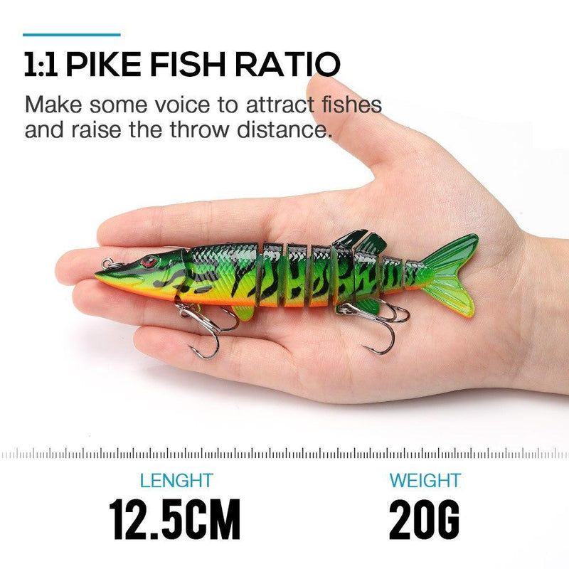 Artificial Pike Bait Multi Jointed Bait - OhCoolstule