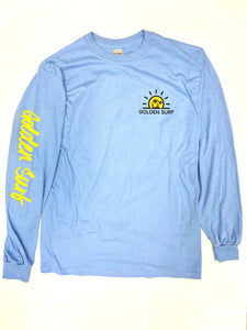 """Surfer Bay"" Long Sleeve - CAROLINA BLUE"