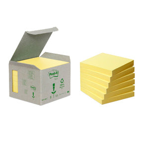 Post-it Notisar 76x76 recycled gul (6)