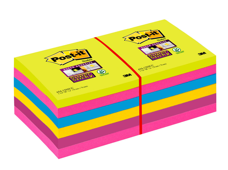 Post-it SS-Notisar 76x76 Rainbow (12)