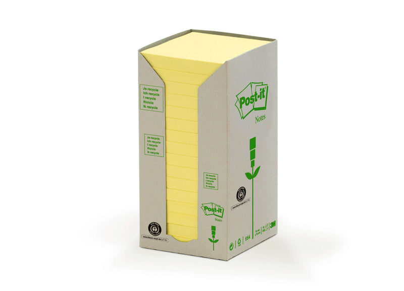 Post-it Notisar 76x76 recycled gul (16)