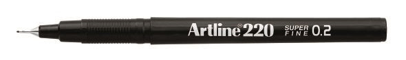 Fineliner Artline 220 SF 0.2 svart