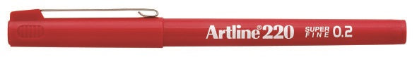 Fineliner Artline 220 SF 0.2 röd