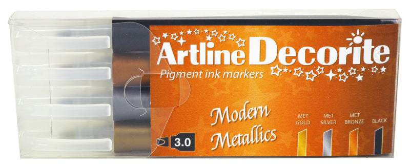 Artline Decorite Rak Modern metallic 4-pack
