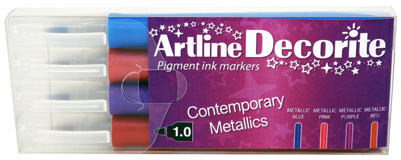 Artline Decorite Rund Metallic 4-pack
