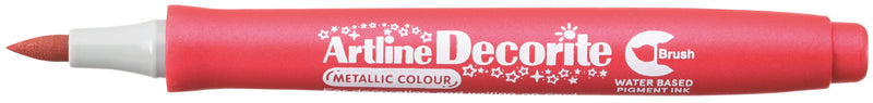Artline Decorite Pensel metallic röd