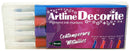 Artline Decorite Pensel Metallic 4-pack