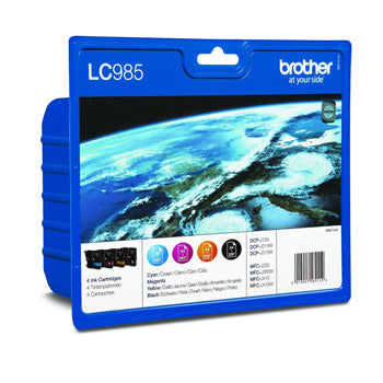 LC985V value pack ink b/c/m/y blister