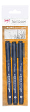 Tombow fineliner MONO drawing pen 3-set svart