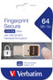Fingerprint Secure Drive USB 3.0 64GB, Black