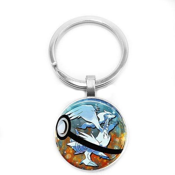 Pokemon Keychains Pendants - Glass Cabochon