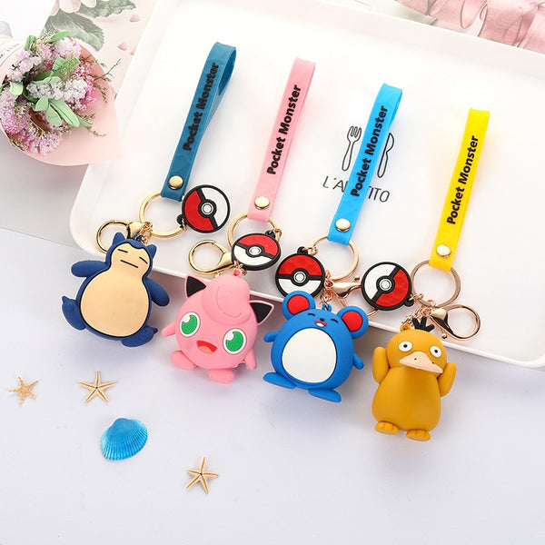 Pokemon Keychain Pendant Key Ring 3D Anime Figure