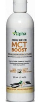 Alpha Emulsified MCT Boost Vanilla 355ml