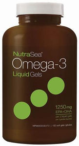 Nutrasea Omega 3 Fish Oil 1250mg Softgels (Formerly 2x Concentrated)