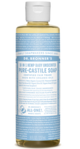 Dr. Bronner's Organic Pure Castile Liquid Soap Baby Unscented