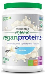 Fermented Organic Vegan Proteins+ 600g Powder