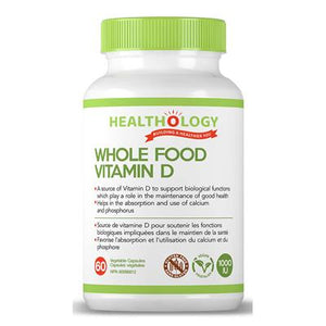 Whole Food Vitamin D 60 Veggie Capsules