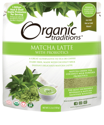 Organic Traditions Matcha Latte with Probiotics 150g