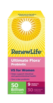 Ultimate Flora Vaginal Support for Women 50 Billion Probiotics Veggie Capsules