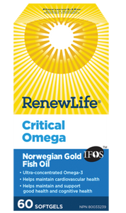 Critical Omega Fish Oil 30 Softgels