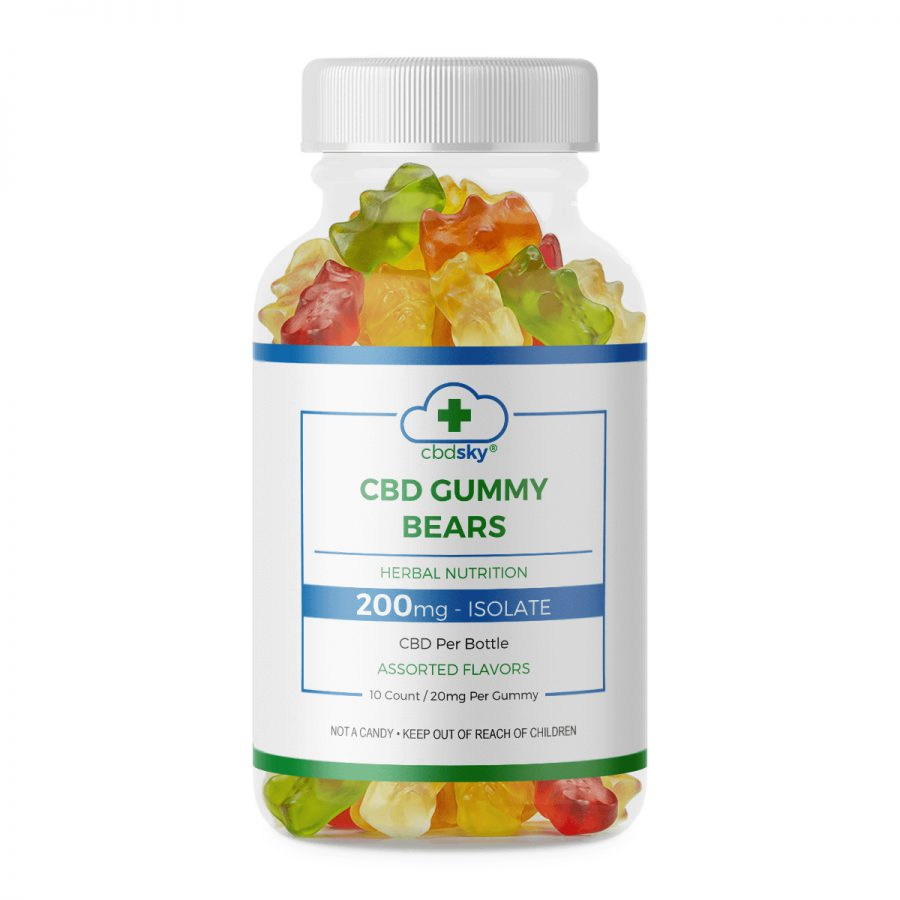 CBD Gummies 10 count – 200mg CBD Isolate