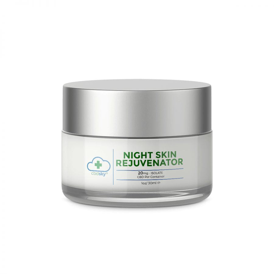 CBD Night Skin Rejuvenator 1oz/30ml 20mg Isolate