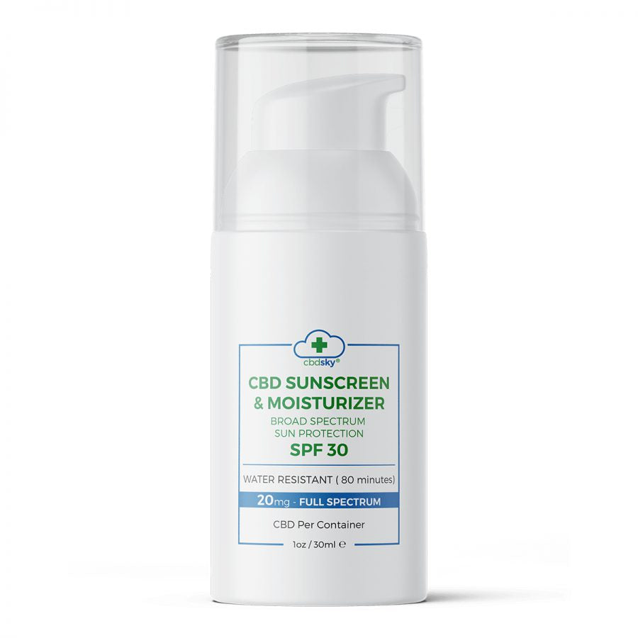 CBD SKY Sun Screen & Moisturizer SPF30 (1oz, 20mg Full Spectrum CBD)