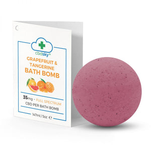 Full-Spectrum Grapefruit & Tangerine CBD Bath Bomb (35mg)