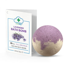 Load image into Gallery viewer, Lavender CBD Bath Bomb – 35mg Full Spectrum CBD Oil