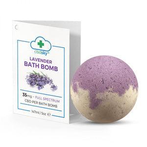 Lavender CBD Bath Bomb – 35mg Full Spectrum CBD Oil