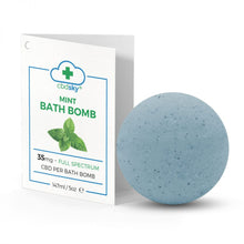 Load image into Gallery viewer, Mint CBD Bath Bomb 35mg Full Spectrum