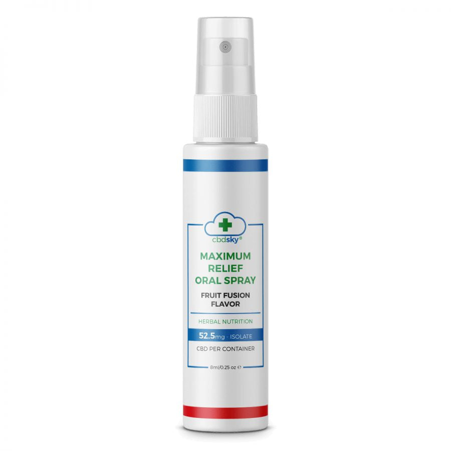 Maximum Relief CBD Oral Spray 8ml – 52.5mg CBD Isolate