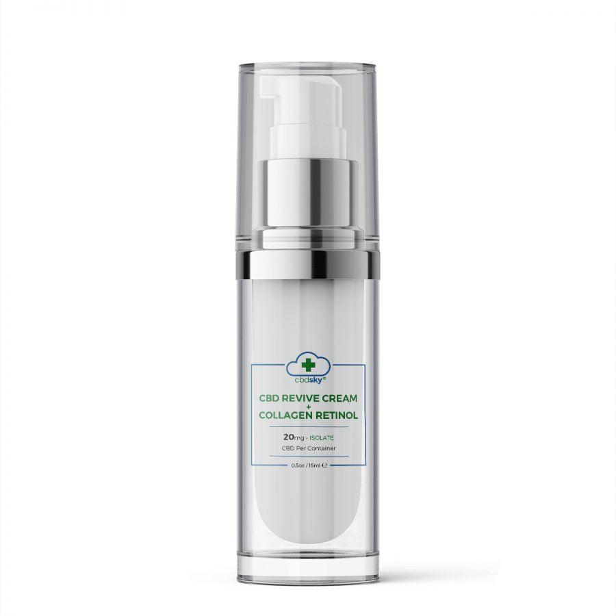 CBD Revive + Retinol Collagen Moisturizer .5oz/15ml – 20mg CBD Isolate