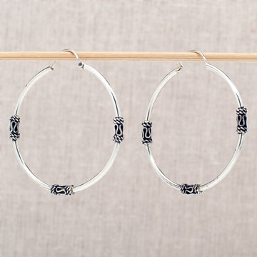 Traditional Sterling Silver Hoops