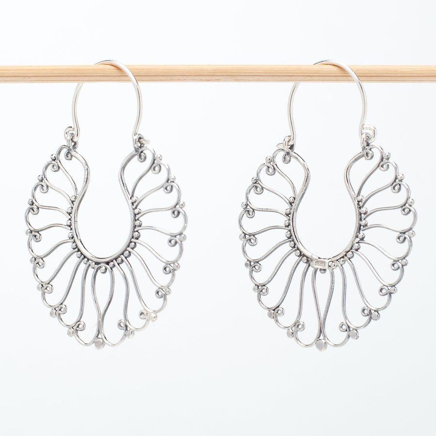 Intricate Sterling Wire Earrings