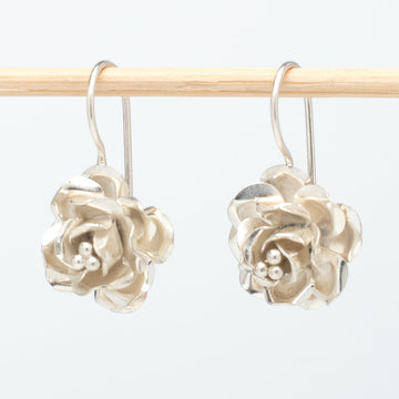 Sterling Rose Earrings