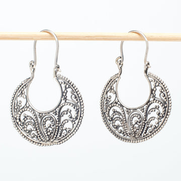 Traditional Bali Half Moon Earrings