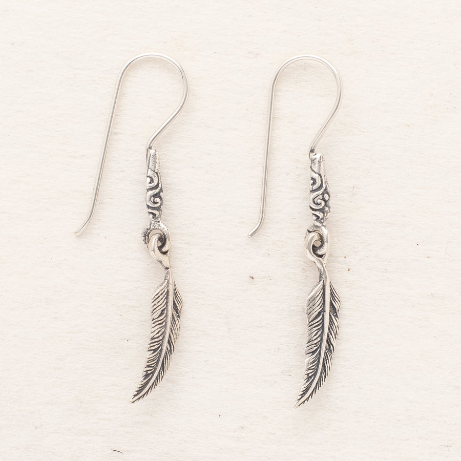 Tiny Sterling Silver Leaf Earrings
