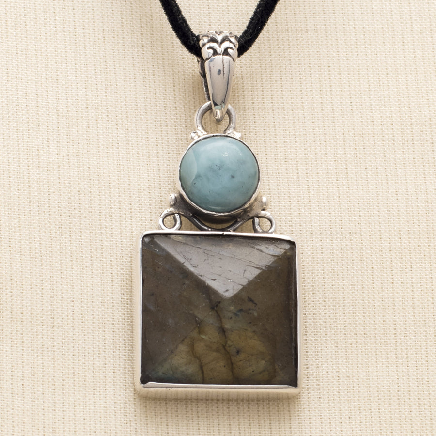 Amazonite and Labradorite Pendant
