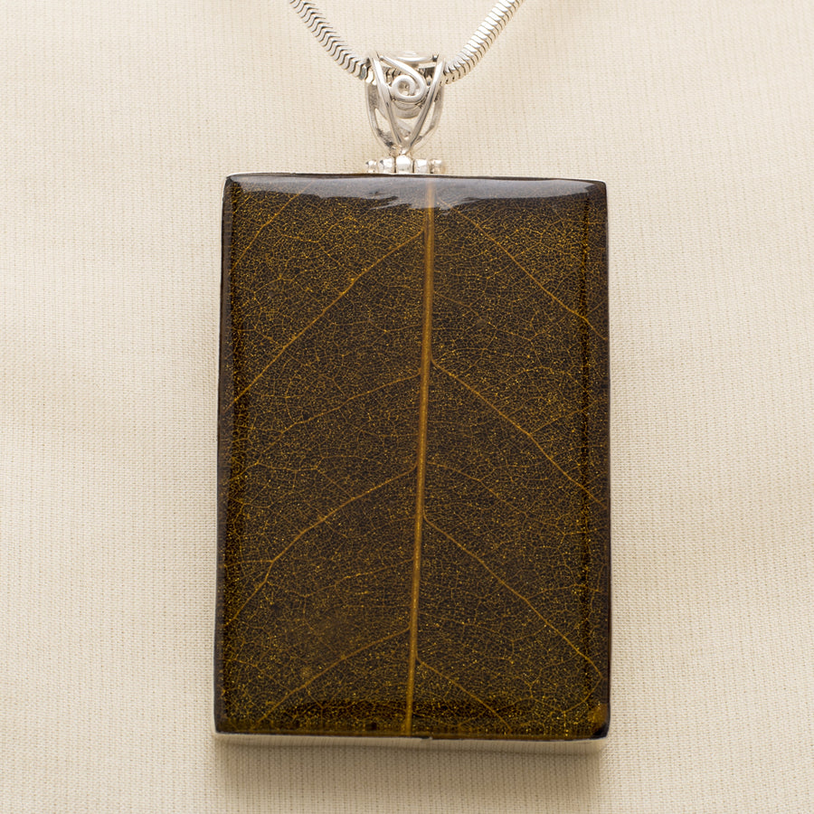 Leaf Skeleton in Resin Pendant