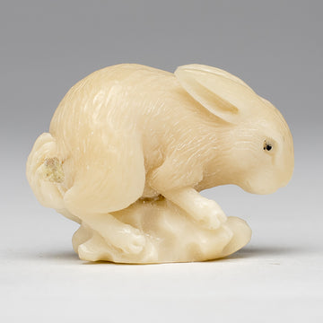 Carved Rabbit from Taqua Nut