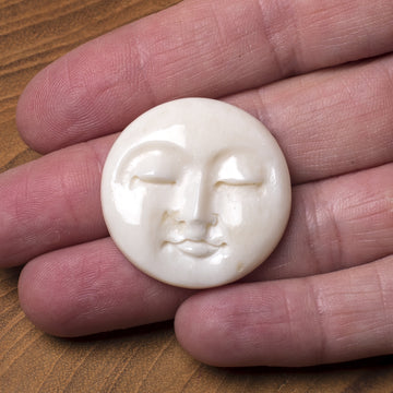 Round Faces Bone Cabochon
